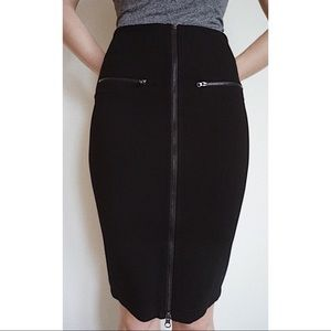 Skirt pensil shape midi with zipper new